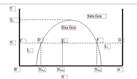 Diagram fasa cair cair uzlivatul jamilah 16630039 kimia16 gambar diagram fasa t x cair cair untuk dua cairan yang misibel sebagian pada daerah di dalam kurva terdapat dua fasa titik titik pasangan komposisi ccuart Image collections